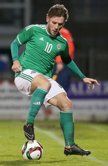 Goal hero: Shea McCartan put the Under-21s ahead with a stunning strike