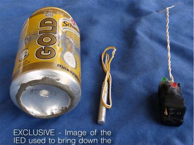 The IED Isis says it used to bring down the bomb Flight 9268 Metrojet airliner in Sinai, Egypt