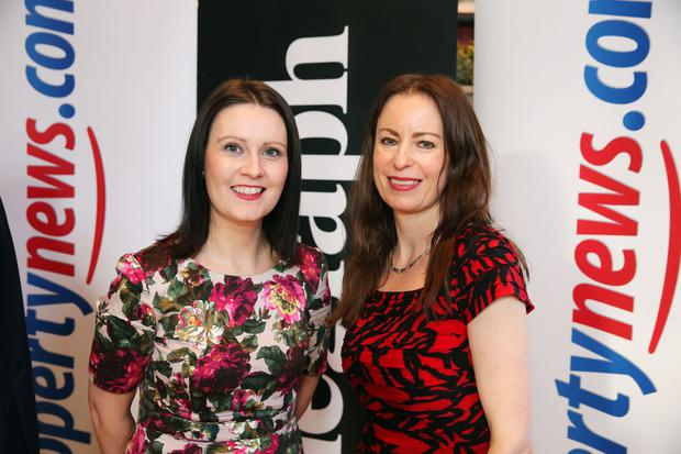 Emma McNally and Gail Walker pictured at the Belfast Telegraph Property Awards 2015 in association with propertynews.com. Picture by Kelvin Boyes / Press Eye.