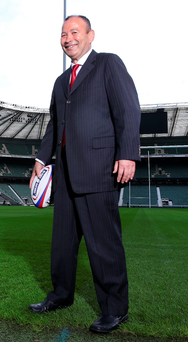 LONDON, ENGLAND - NOVEMBER 20: Eddie Jones, the new England Rugby head coach, poses at Twickenham Stadium on November 20, 2015 in London, England. (Photo by David Rogers/Getty Images)