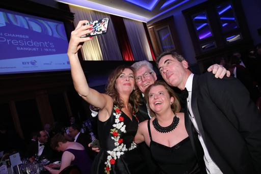 James Nesbitt and fans pictured at the Northern Ireland Chamber of Commerce and Industry (NI Chamber) annual President's Banquet. (Kelvin Boyes/Press Eye)