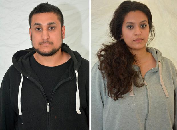 Thames Valley Police undated handout photo of Mohammed Rehman and his secret wife Sana Ahmed Khan, who deny during a trial at the Old Bailey of preparing terrorist acts on or before May 28 this year. PA