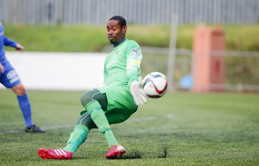 Ballinamallard United goalkeeper Alvin Rouse has been the target of abuse