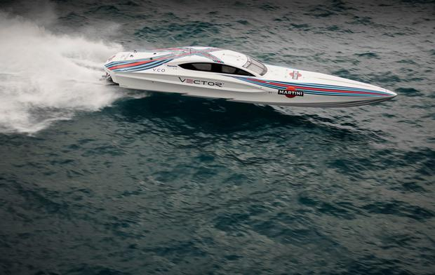 A Vector Martini powerboat