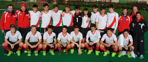 The Ulster under 18 team, who beat Munster 4,0 and 8,2 and Leinster 1,0 and 2,0 to be Ireland Inter provincial under 18 champions