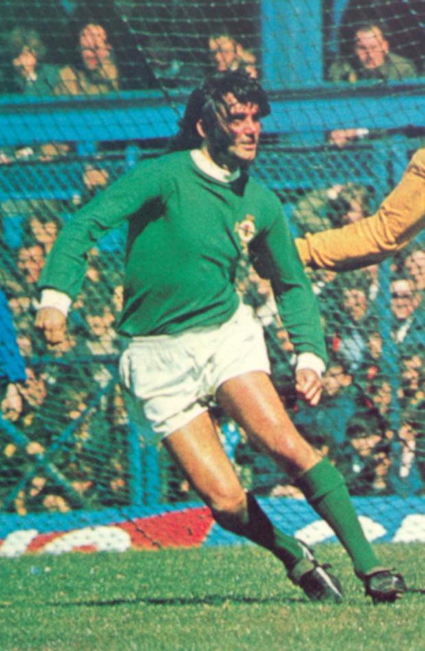Simply the Best: George in action for Northern Ireland