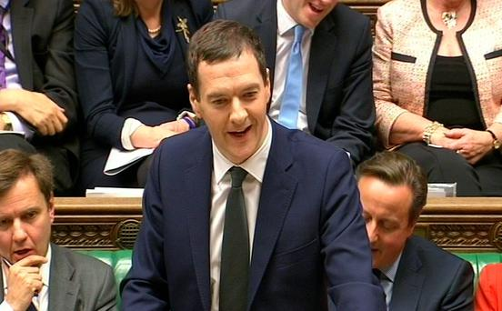 The Chancellor of the Exchequer, George Osborne delivers his joint Autumn Statement and Spending Review to MPs in the House of Commons, London. Photo: PA Wire