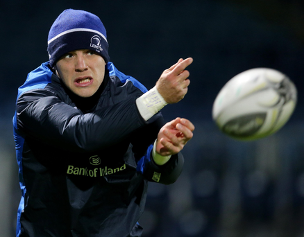 On the ball: Ian Madigan is considering a move away from Leinster at the end of the season