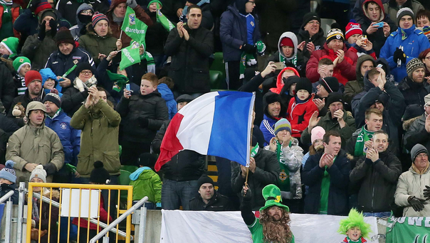 Split opinion: Northern Ireland fans can't agree on the best way to distribute tickets for the Euro 2016 finals