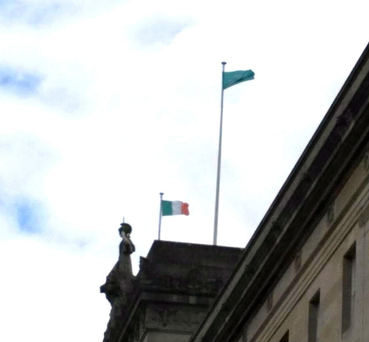 Row: Stormont flags