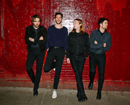 Road noise: (from left) Justin Young, Pete Robertson, Arni Arnason and Freddie Cowan of The Vaccines tour incessantly