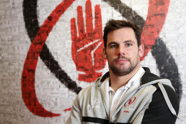 24 November 15 - Picture by Darren Kidd / Press Eye. Ulster's Ricky Lutton during a press conference at Kingspan Stadium ahead of this weeks away match against Leinster.