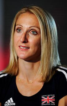 Relieved: Paula Radcliffe