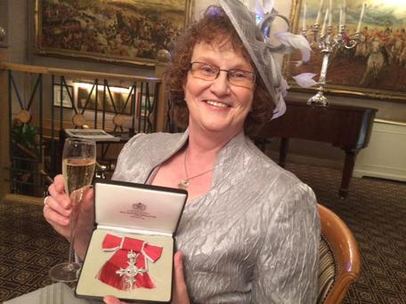 Charity champion: Arlene celebrating her MBE
