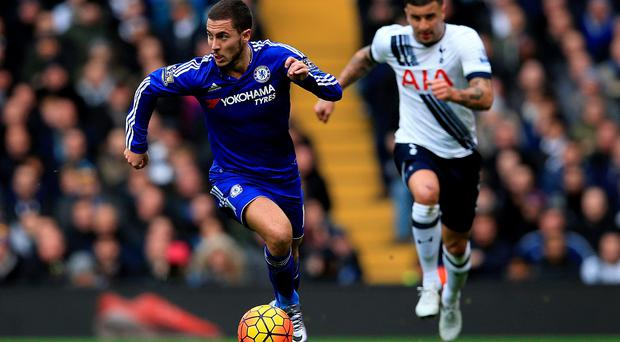 Chelsea's Eden Hazard during the Barclays Premier League match at the White Hart Lane, London. John Walton/PA Wire.