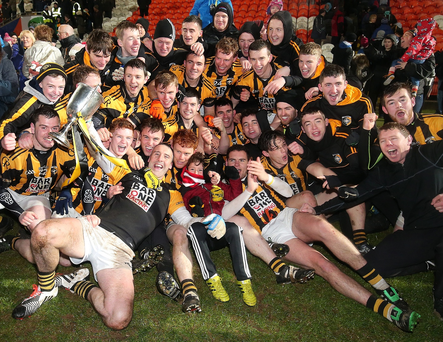 Just champions: Crossmaglen Rangers celebrate their Ulster title victory