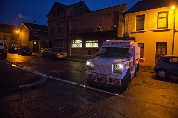 Scene on Iveagh Street in west Belfast where two men were shot. Picture by Jonathan Porter/PressEye