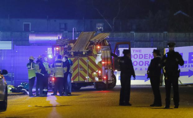 Police at the scene of an incident in the Boucher Road area of Belfast, Northern Ireland on November 30 (Photo by Kevin Scott / Presseye )