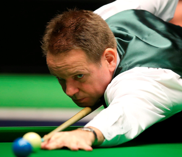 Joe Swail during his match with Michael Holt during day six of the 2015 Betway UK Snooker Championship at The York Barbican, York. PRESS ASSOCIATION Photo. Picture date: Monday November 30, 2015. See PA story SNOOKER York. Photo credit should read: Mike Egerton/PA Wire.