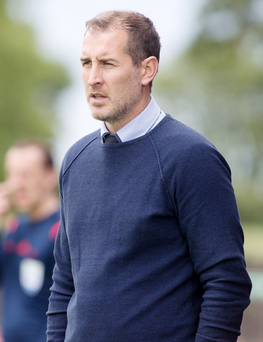 Press Eye - Belfast - Northern Ireland - 8th August 2015 Danske Bank Premiership - Dungannon Swifts Vs Carrick Rangers. Carrick manager Gary Haveron Picture by Jonathan Porter/Press Eye