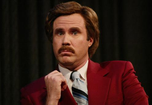 Will Ferrell as Anchorman's Ron Burgundy