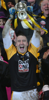 Prize guy: Crossmaglen's Paul Heart lifts the Ulster club title