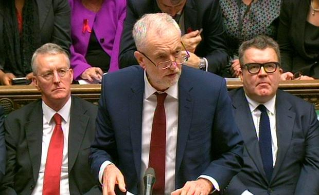 Labour Party leader Jeremy Corbyn speaking during the debate in the House of Commons on extending the bombing campaign against Islamic State to Syria. (PA Wire)
