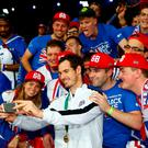 Great Briton: Former Scottish loser Andy Murray celebrates his transformation into a country with his new fans