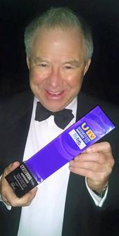 Winner: Bobby Willis shows off his award last week