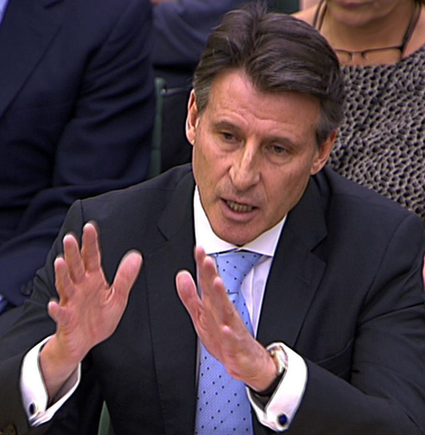 Good to talk: Lord Coe giving evidence to MPs yesterday