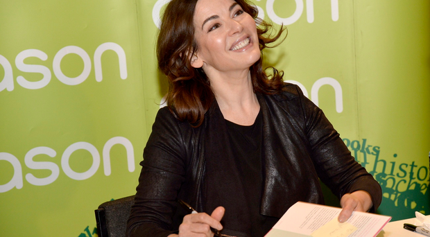 Celebrity chef Nigella Lawson pictured at her book signing of
