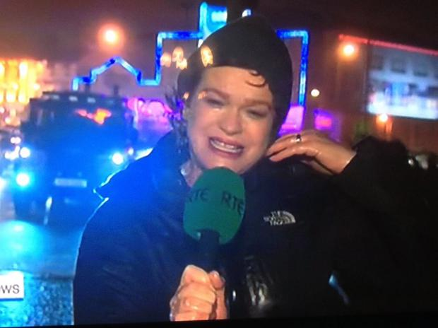 RTE journalist Teresa Mannion is a hot topic on social media today following her live report on RTE News last night. Pic: Irish Independent.
