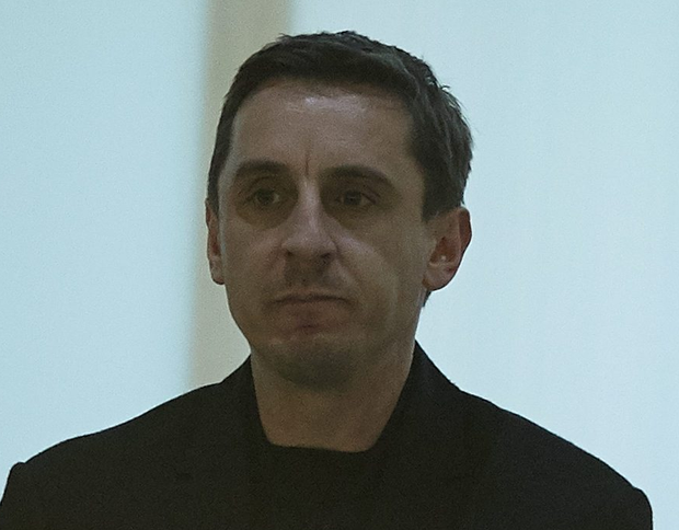 Looking up: Gary Neville will be pleased by his side
