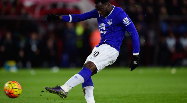Hot streak: Everton striker Romelu Lukaku has found the back of the net six times in the Toffees' last five matches