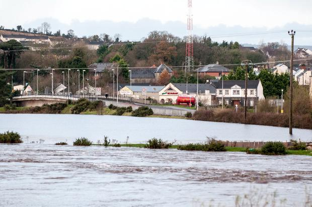 Flooding in the Co Tyrone town of Strabane overnight and this morning. Pic Pacemaker.