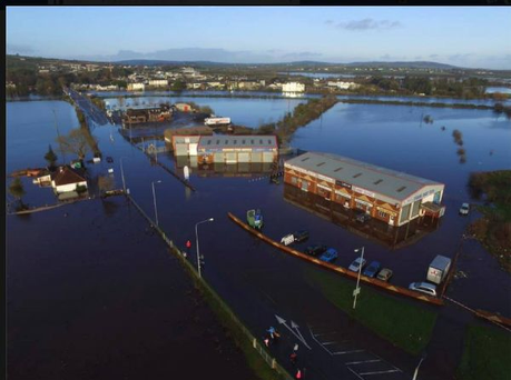 The submerged Lifford Road site in Strabane.