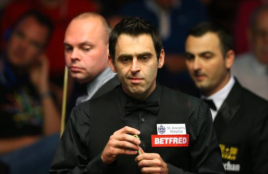 On cue: Ronnie O'Sullivan will square up to Mark Williams