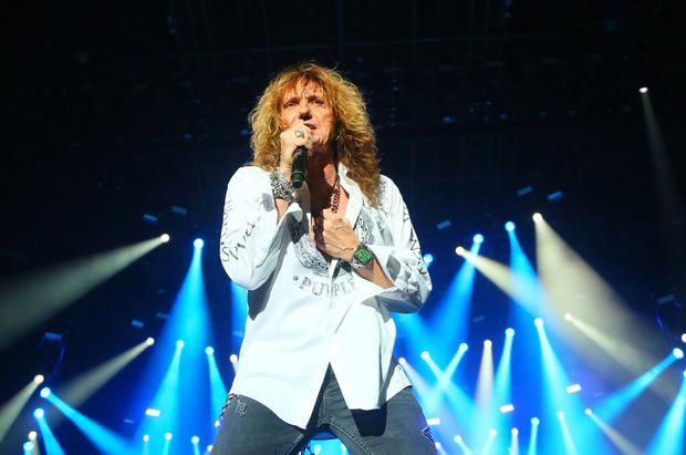 Whitesnake as they perform on the stage at the SSE Arena in Belfast, Northern Ireland on December 07 (Photo by Kevin Scott)