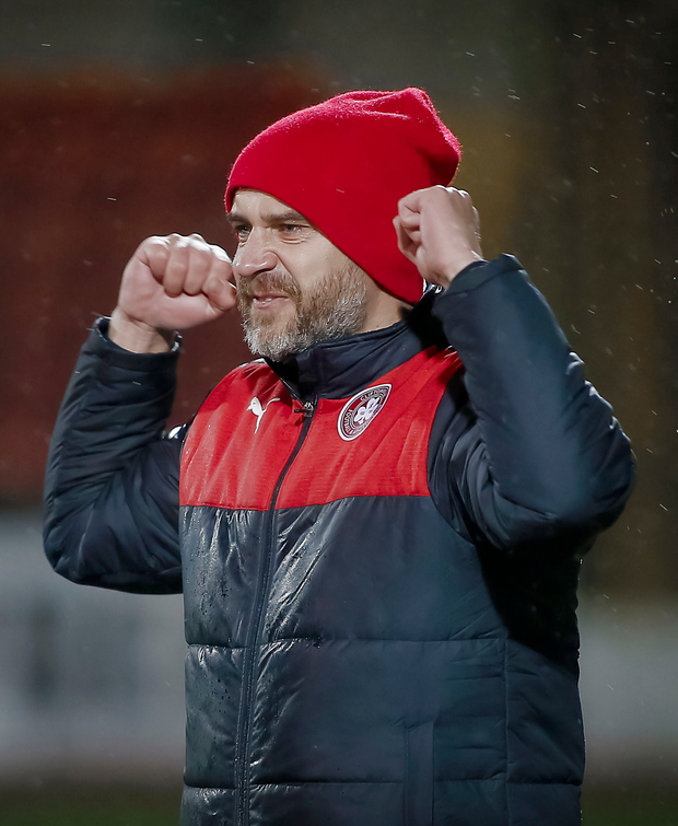 Impressive: Gerard Lyttle has been securing fine results for Cliftonville since becoming manager