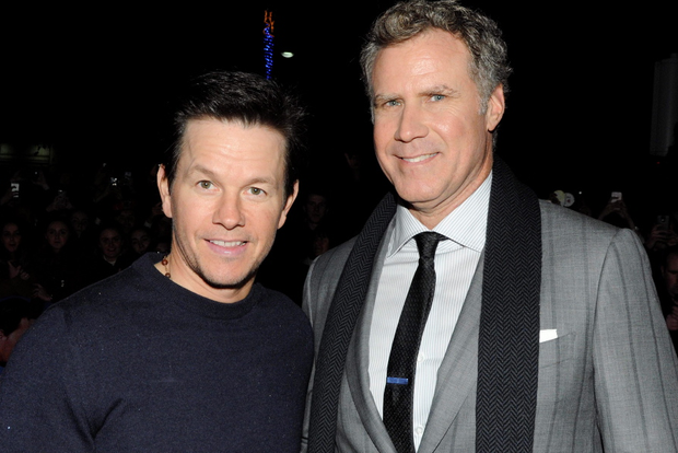 DUBLIN, IRELAND - DECEMBER 07: Mark Wahlberg and Will Ferrell attend the Dublin Premiere of