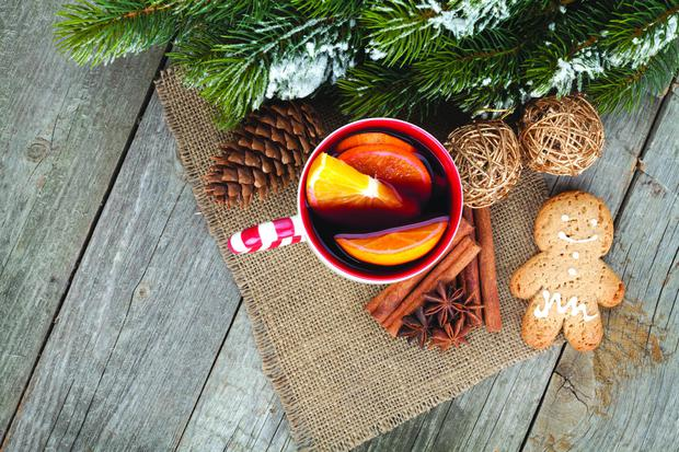 Mulled wine will help warm the spirits at the Christmas village.