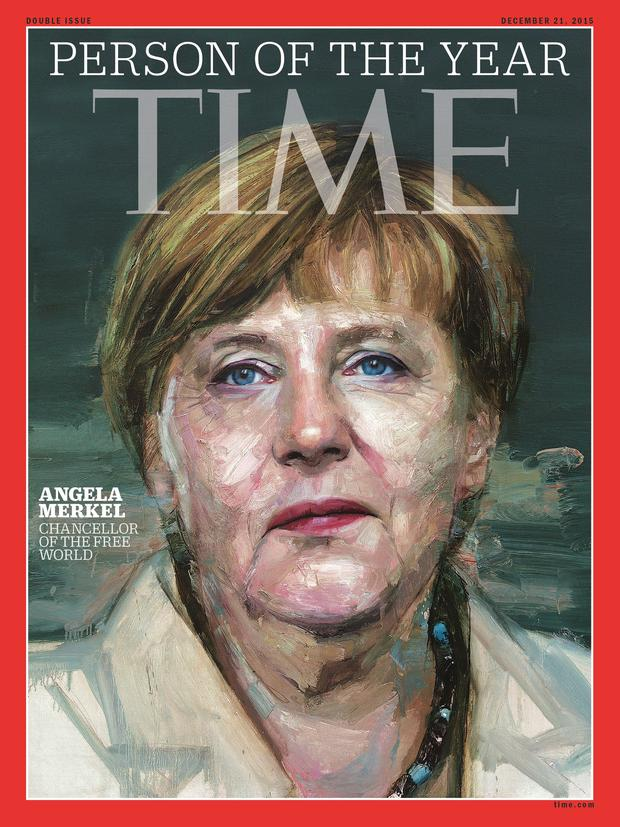 This image obtained December 9, 2015 courtesy of TIME shows the cover for Person of the Year 2015. AFP/Getty Images