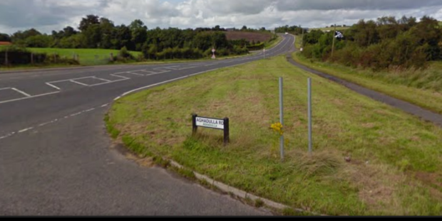 The Aghadulla Road outside Dromore. Pic: Google Maps