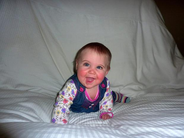 Eva McCaffrey was 14-months-old when she swallowed a lithium button battery which eroded her oesophagus. She is now aged five and back to full health. Pic Belfast Trust