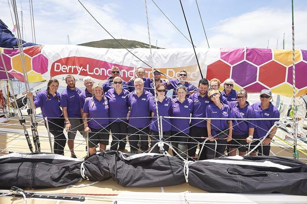 Derry clipper crew before departure from Albany to Sydney