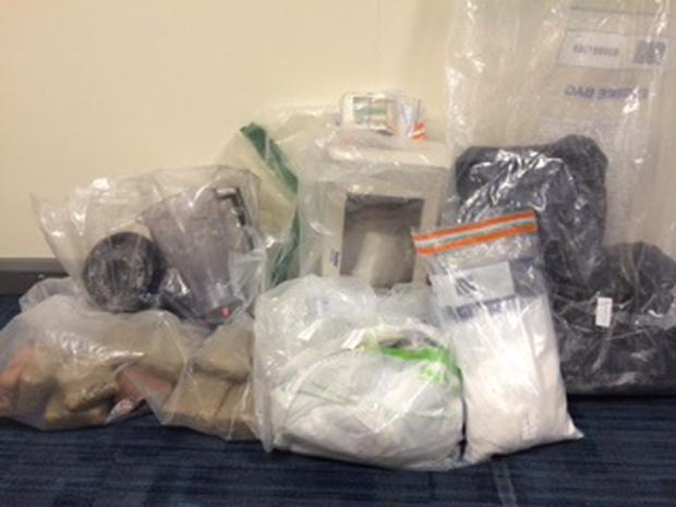 Police seized 4.5 kilos of cocaine along with 10 kilos of benzocaine