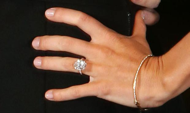 A close-up of the ring worn by Erica Stoll. Photo: PressEye