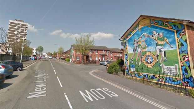 The incident occurred in the New Lodge area of north Belfast