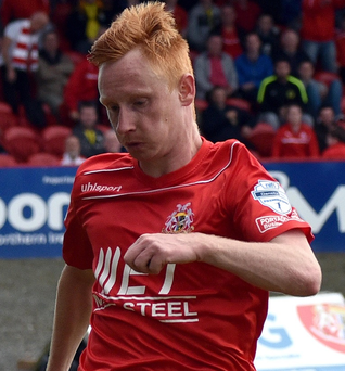 Team talk: midfielder Robert Garrett lifted the lid on how Portadown produced a stirring comeback against Carrick Rangers that ended in a dramatic last-gasp win