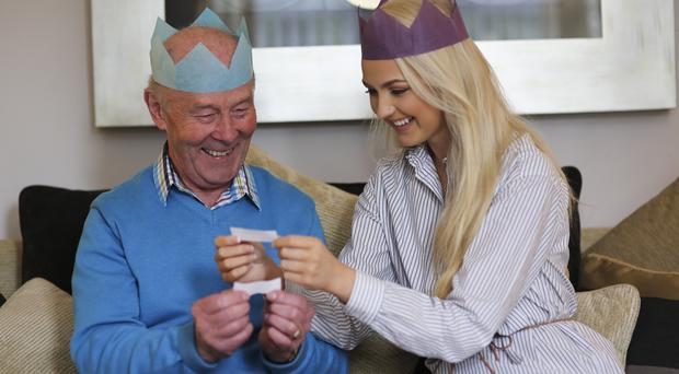 Cracking time: Leanne McDowell and her grandad Richard Curry